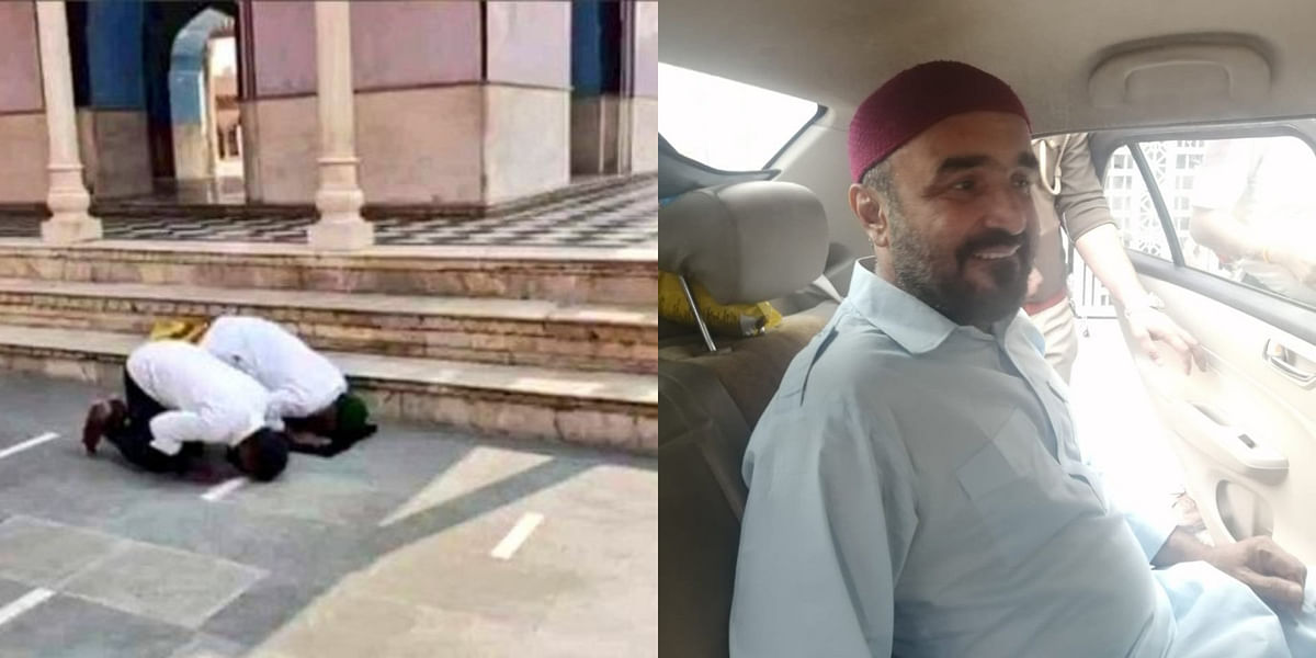 Muslim men offer namaz at Mathura temple; minister sees conspiracy