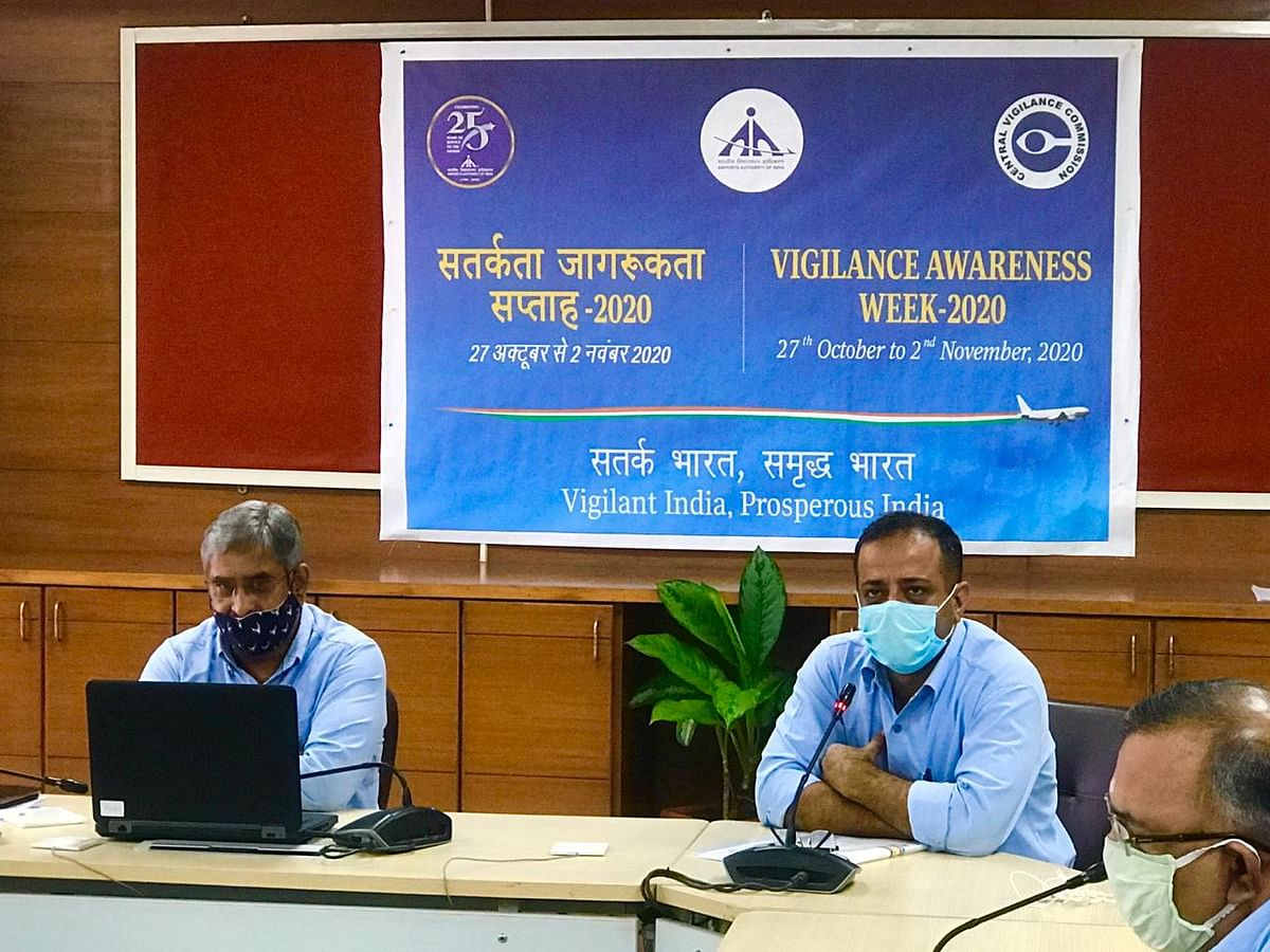Airports Authority of India observes Vigilance Awareness Week-2020