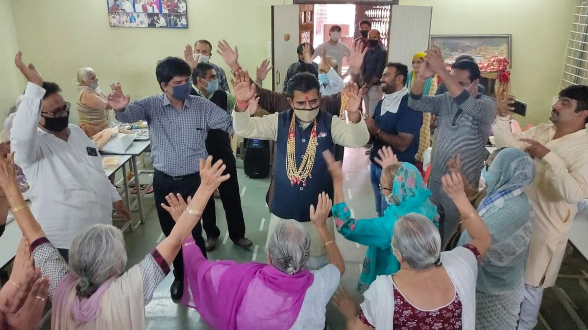 Celebrations at old age home in Katju colony