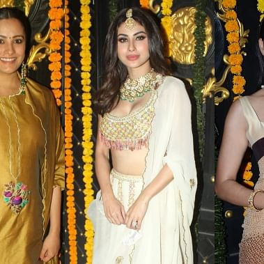 Corona who? Mouni Roy, Manish Malhotra, and others attend Ekta Kapoor's Diwali bash; see pics