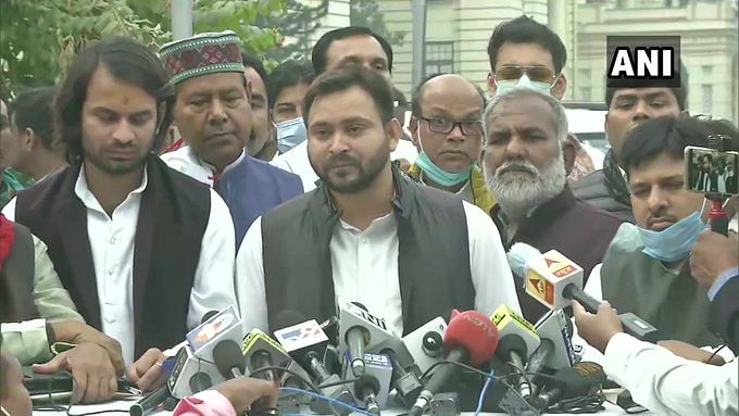 Tejashwi Yadav hits out at Nitish Kumar over his remarks on Lalu Yadav's family size