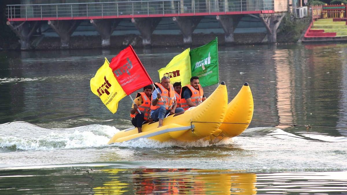 Bhopal: MPTDC launches Banana Boat Ride at Sair Sapata