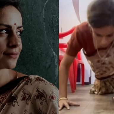 Gul Panag wins the internet by doing push ups in a saree, netizens call her 'Wonder Woman'