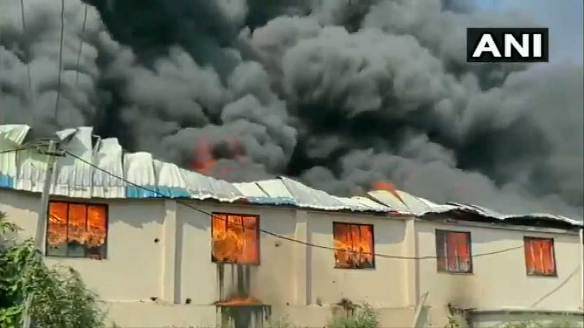 Fire broke out at a plastic manufacturing unit in Gujarat's Valsad on Saturday