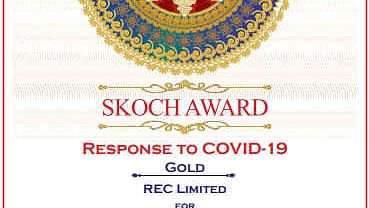 REC bags SKOCH Award for 'Response To Covid'