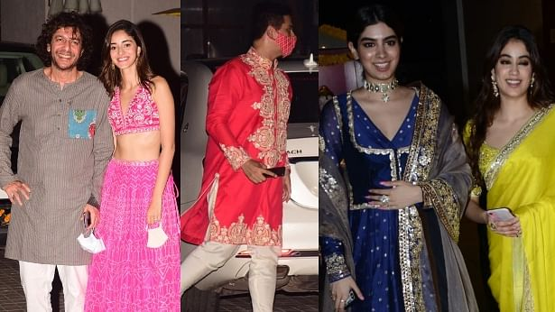 In Pics: COVID-19 pandemic fails to dull Diwali celebrations for Bollywood celebs