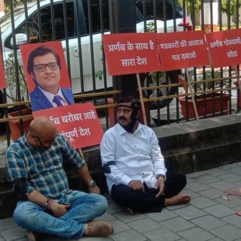Arnab Goswami Arrest: BJP MLA Ram Kadam detained while sitting on hunger strike at Mantralaya