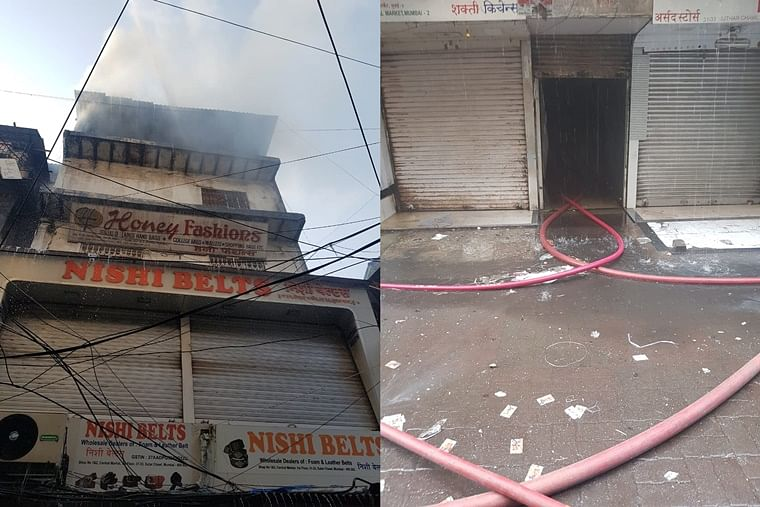 Mumbai: Fire breaks out in a building located at Abdul Rehman Street, no injuries reported