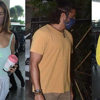 In Pics: Disha Patani, Sidharth Malhotra spotted at Mumbai airport; Farhan Akhtar visits father with Shibani Dandekar