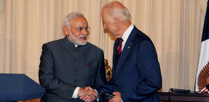 PM Modi with then US Vice President Joe Biden