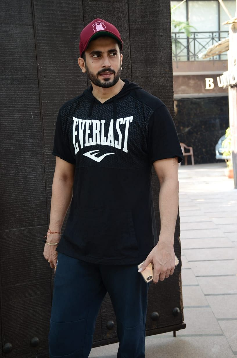 Sunny Singh at a gym in Juhu