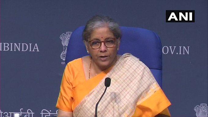Finance Minister Nirmala Sitharman