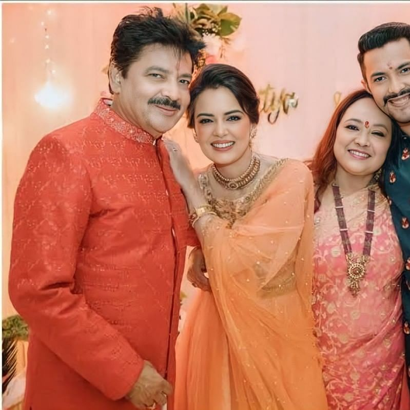 In Pics: Aditya Narayan and Shweta Agarwal kick-start wedding festivities with Tilak Ceremony