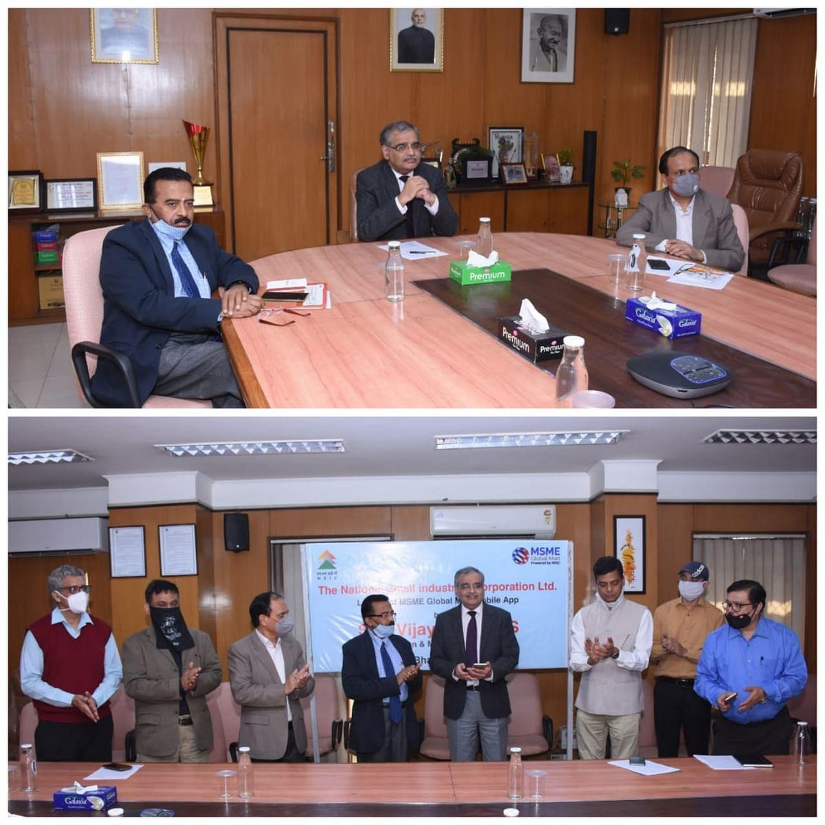 NSIC Chairman cum Managing Director launches NSIC MSMEmart Mobile App