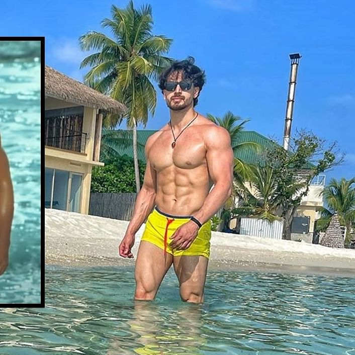 Tiger Shroff's Maldives pool pic in yellow hot pants will remind you of John Abraham in 'Dostana'