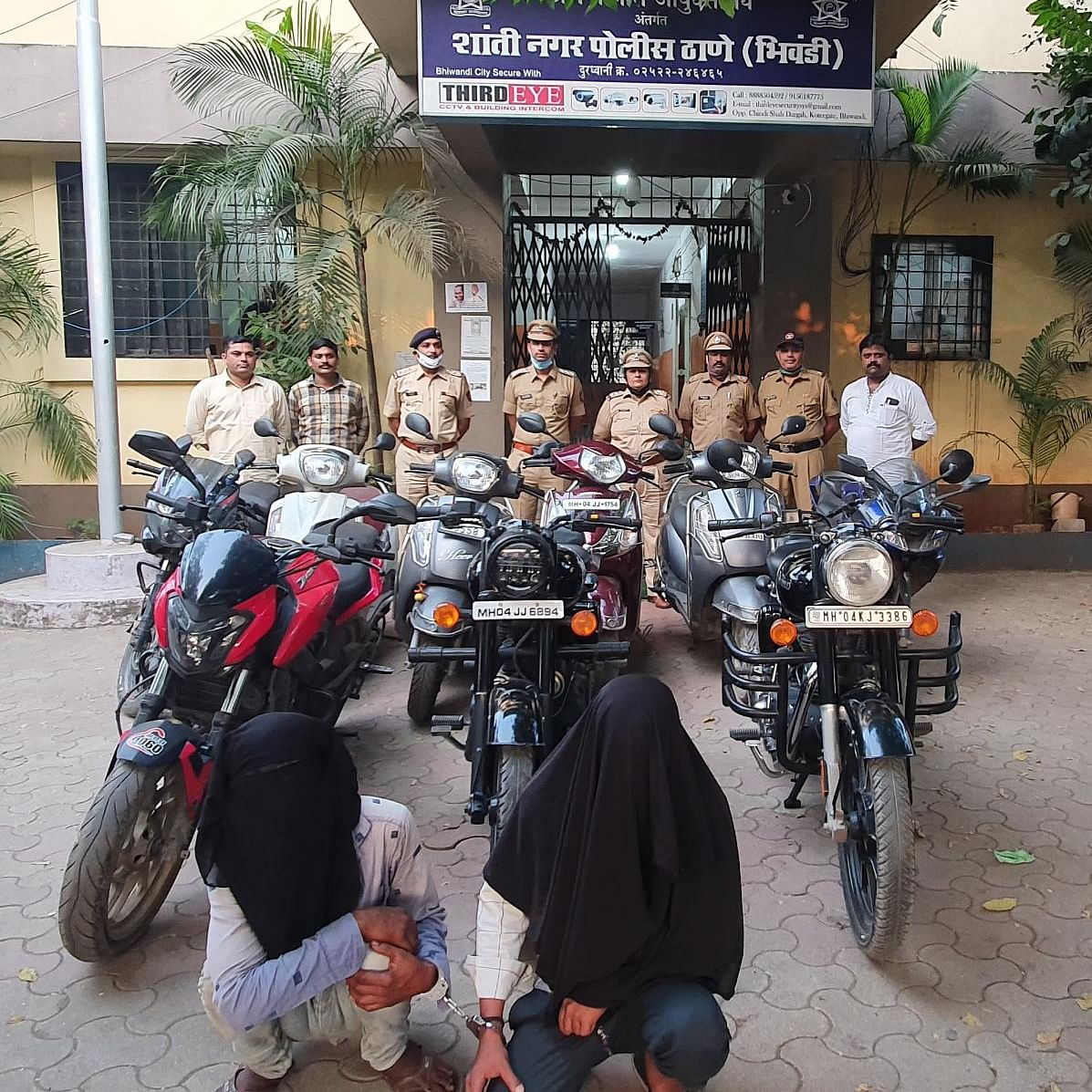 Thane: Two persons arrested for nine cases of bike thefts; police seizes bikes worth Rs 4.60 lakh