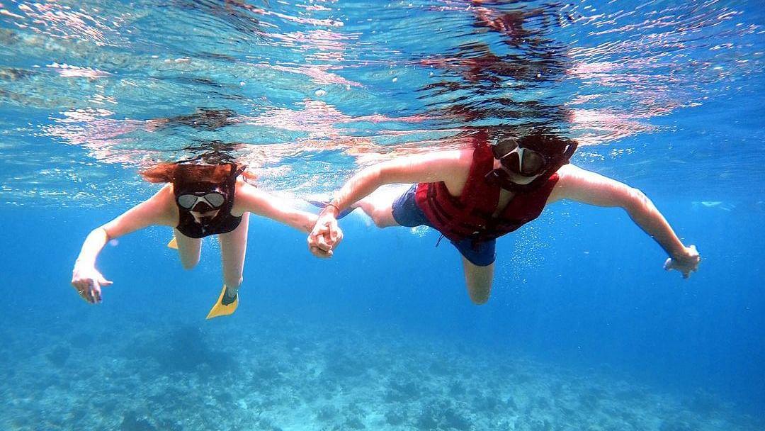 Kajal Aggarwal and Gautam Kitchlu go snorkeling in Maldives - check out her Instagram posts