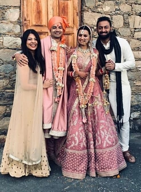 'Mirzapur' actor Priyanshu Painyuli ties the knot with Vandana Joshi; makes entry with his bride on an ATV bike
