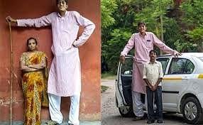 Problems growing taller for 8-feet man from Uttar Pradesh