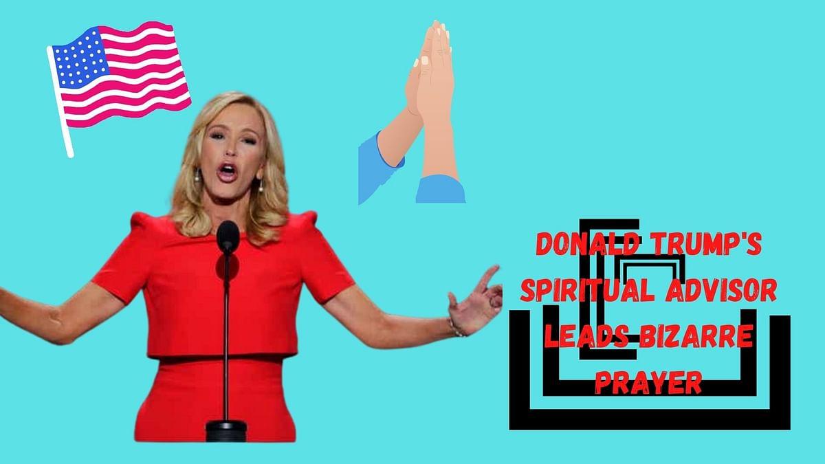 Donald Trump's spiritual advisor leads bizarre prayer service