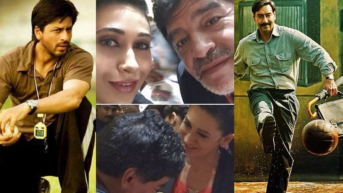 SRK, Ajy Devgn, Karisma Kapoor, and other celebs pay homage to football icon Diego Maradona