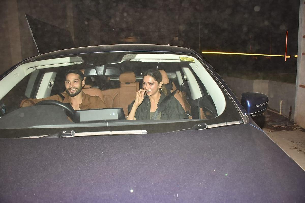 Deepika Padukone and Siddhant Chaturvedi in Bandra