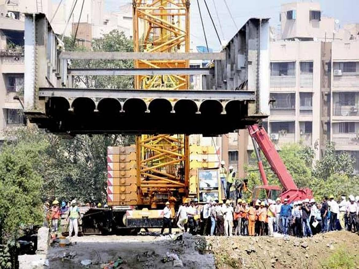 Patripul ROB girder launched in Kalyan, traffic movement soon