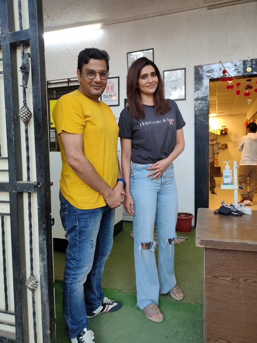 Mukesh Chhabra with Karishma Tanna
