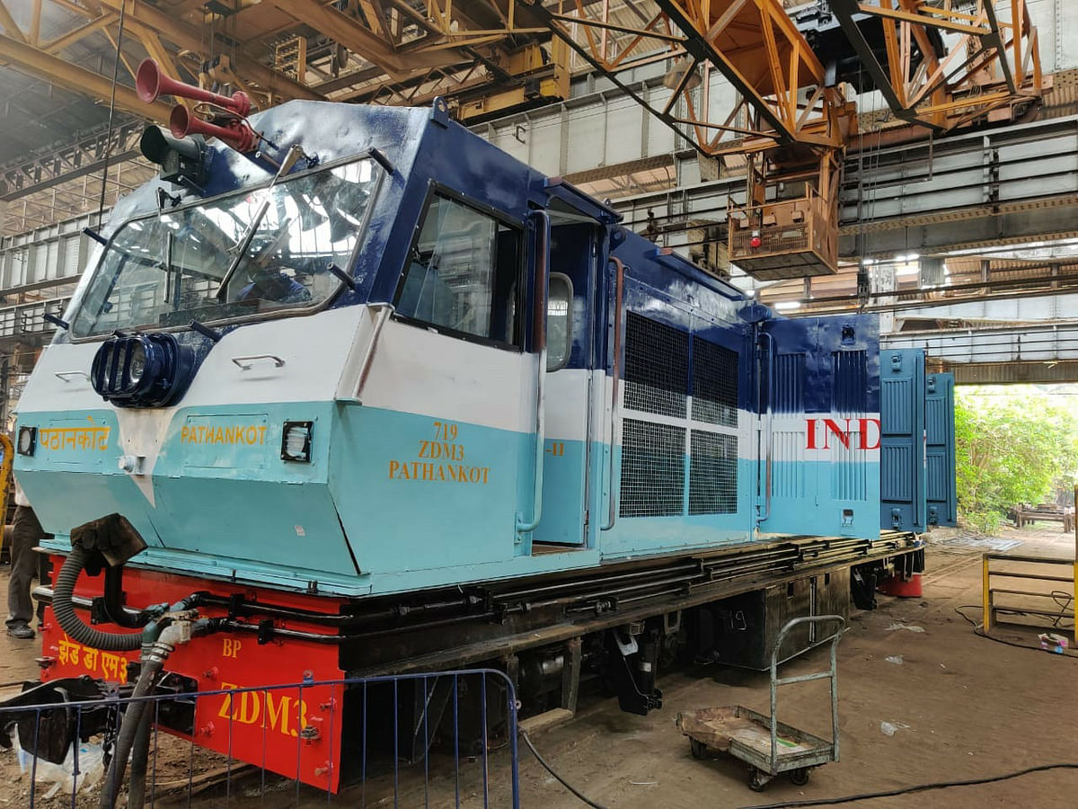 Central Railway's Parel Workshop turns out the Fifth ZDM3 Narrow Gauge Loco for Kalka-Shimla Railway Section of Northern Railway