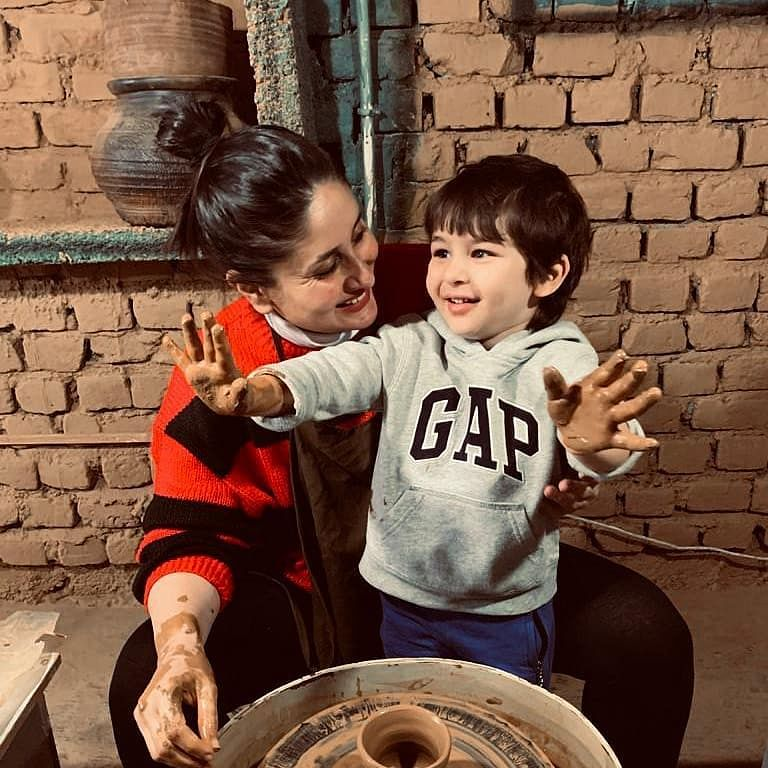 Watch: Kareena Kapoor bonds over 'pottery' with son Taimur Ali Khan in Dharamshala