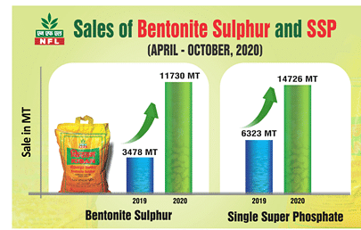 National Fertilizers registers steep growth in the sale of SSP and Bentonite Sulphur