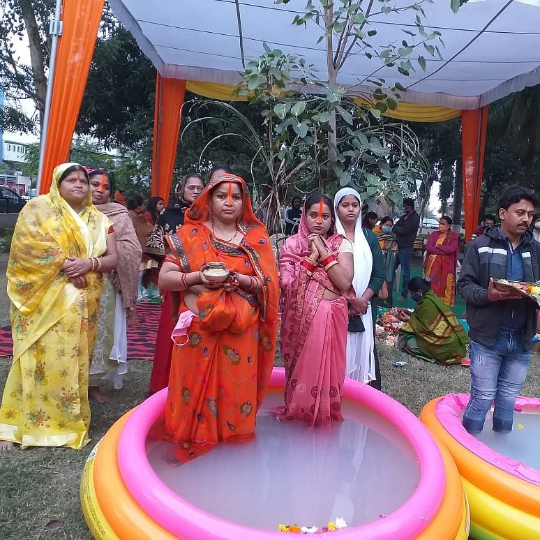 Chhath Mahaparv celebrated in Indore