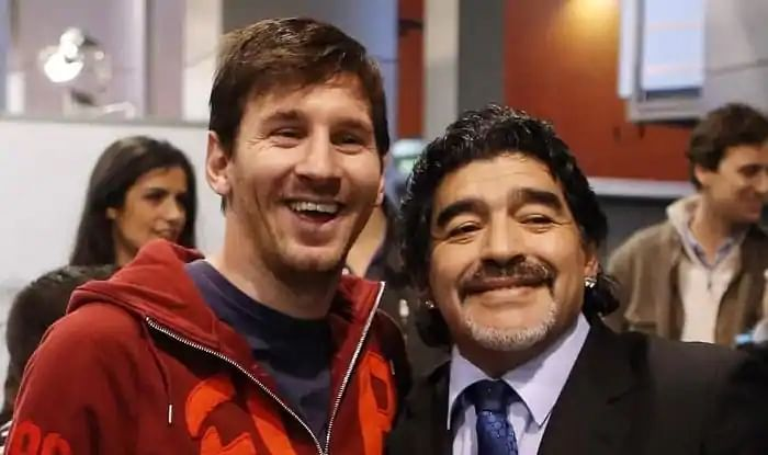 Watch: When two Argentine legends, Diego Maradona and Lionel Messi, teamed up for football tennis