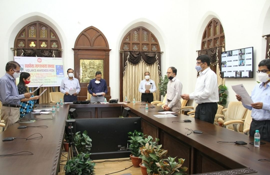 Vigilance Awareness Week: E-launch of awareness videos by Central Railway General Manager