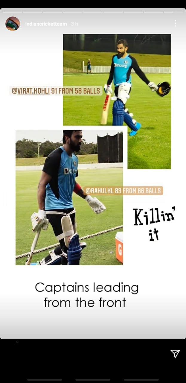 Virat Kohli slams 58-ball 91 as his team CK Nayudu XI defeats KL Rahul's Ranjitsinhji XI in warm-up match