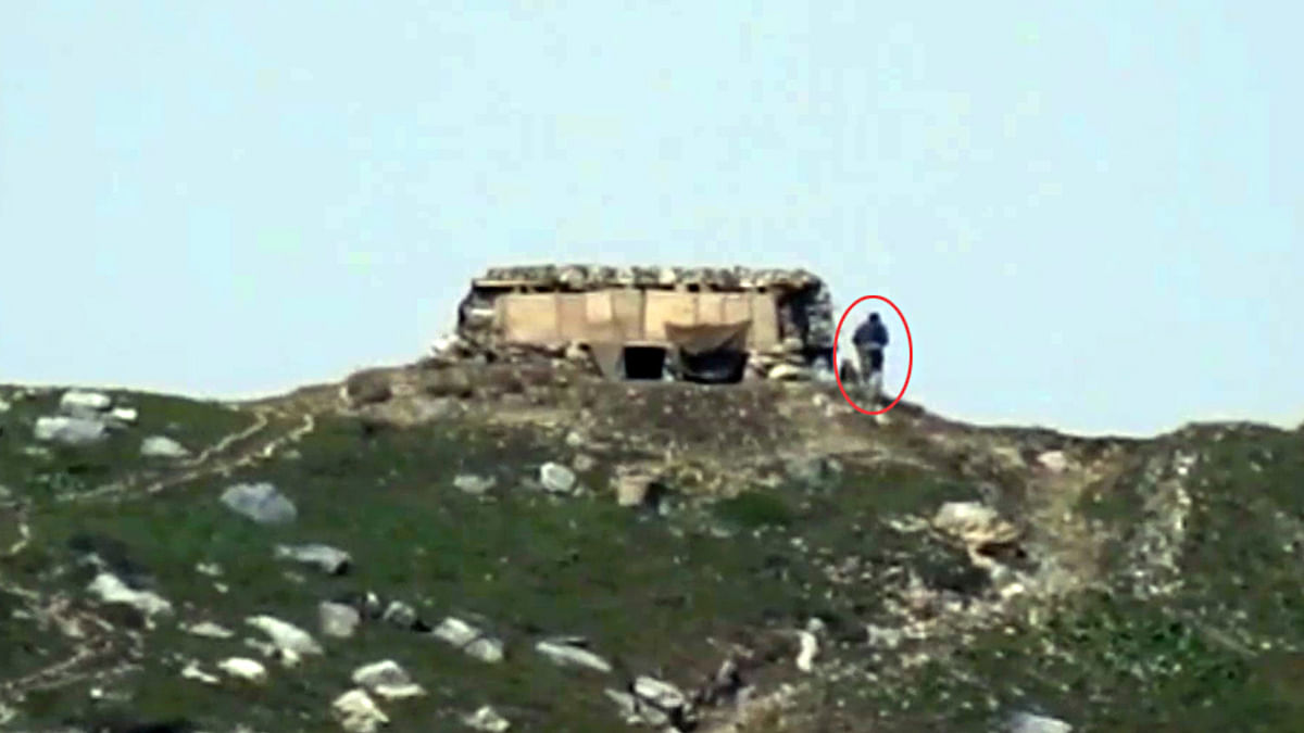 Pakistan violated ceasefire along Line of Control in the Keran sector of Jammu and Kashmir on Friday.