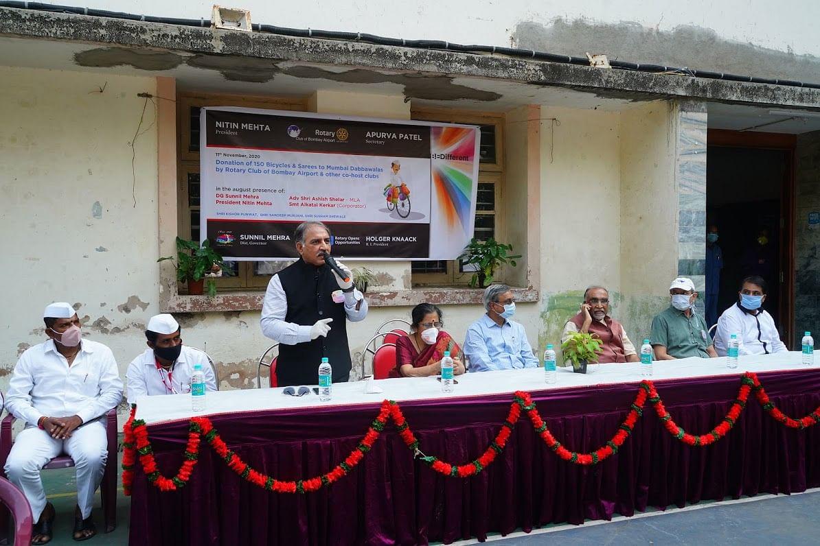 Rotary provides wheels to Mumbai Dabbawalas
