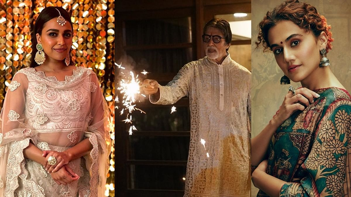 Diwali 2020: Swara Bhasker, Taapsee Pannu, Amitabh Bachchan, and other celebs extend wishes