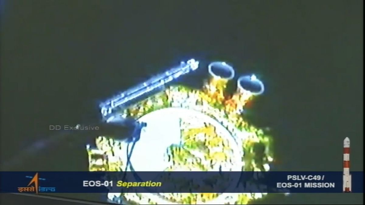 EOS01 successfully separated from fourth stage of PSLVC49 and injected into orbit