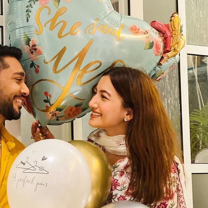 Gauahar Khan confirms engagement with Zaid Darbar, check out their adorable post on Instagram