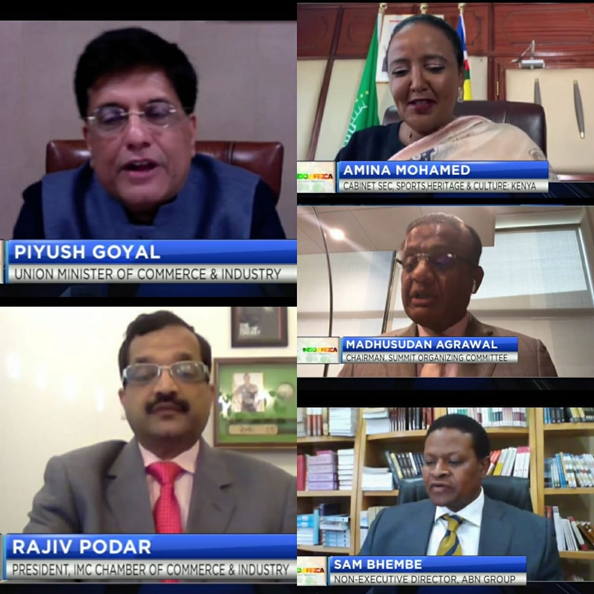 IMC Chamber of Commerce and Industry in association with CNBC Africa organise Indo-Africa Virtual Summit 2020