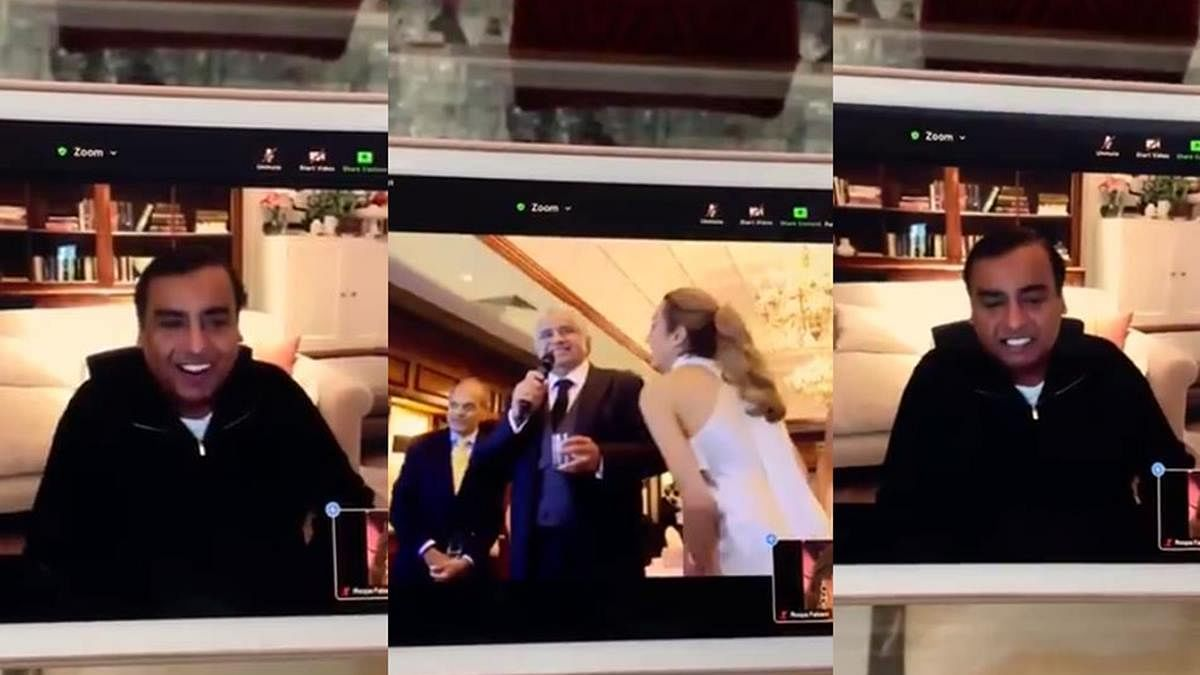 Watch Video: Mukesh Ambani raises a virtual toast at Harish Salve's London wedding
