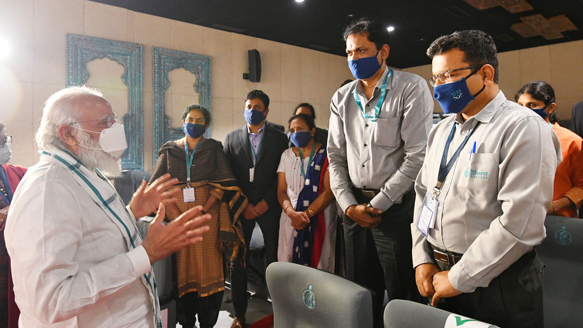 PM tours 3 cities to review COVID-19 vaccine development, lauds indigenous shot at Bharat Biotech facility