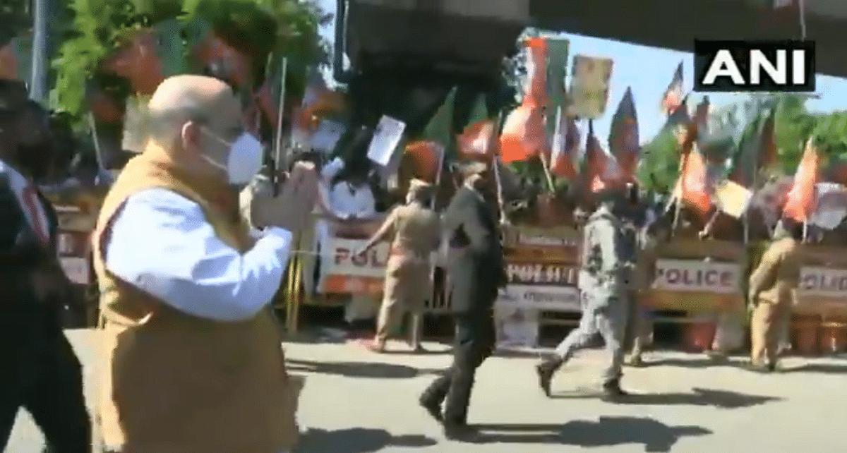Amid heavy security deployment, Amit Shah arrives in poll-bound Tamil Nadu