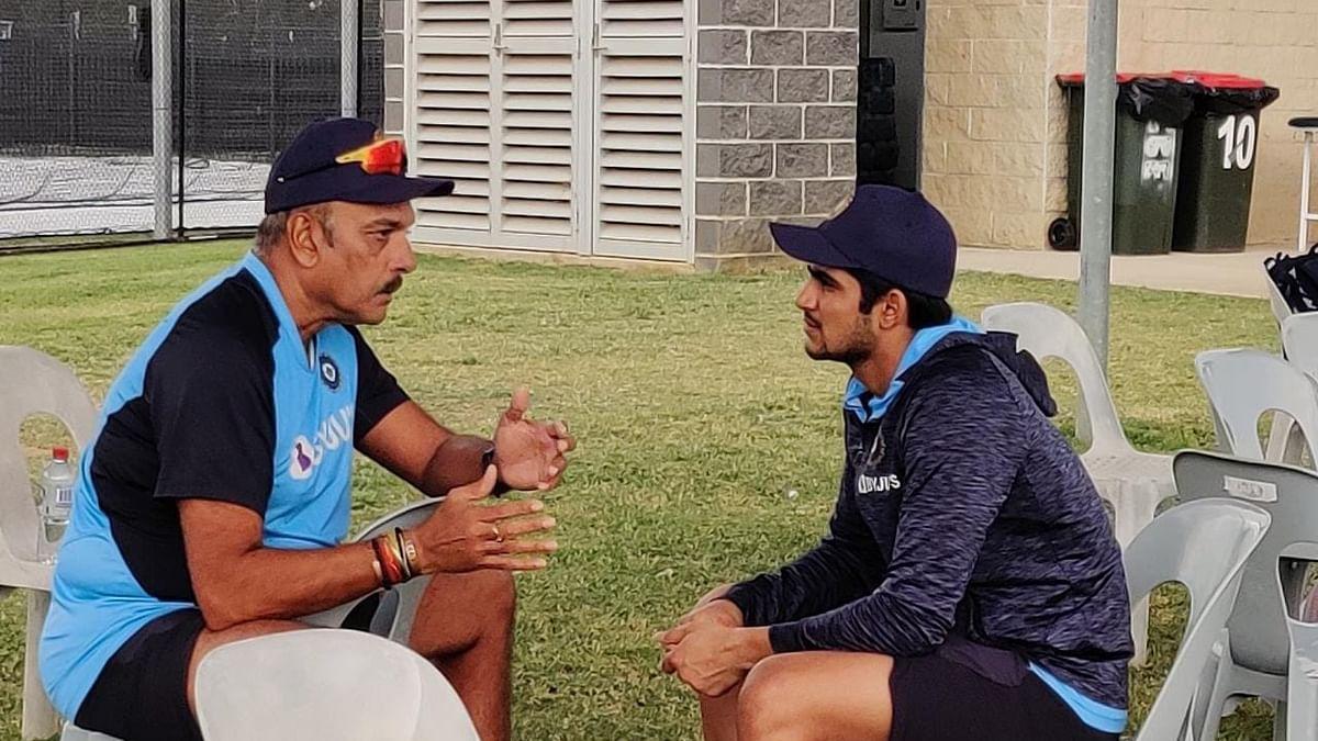 Ravi Shastri (L) with Shubman Gill