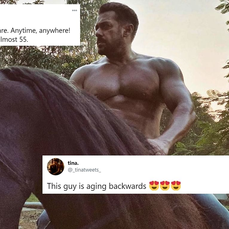 Twitter has a meltdown after Salman Khan, 54, flaunts ripped bod in latest post