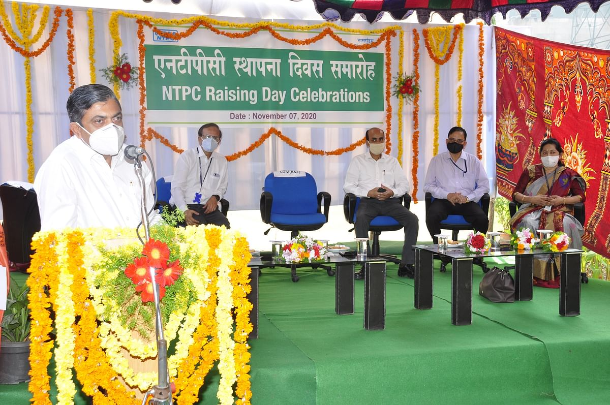 NTPC Raising Day-2020 celebrated at Ramagundam