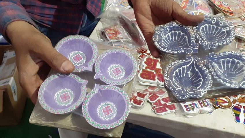Designer diyas from Rajasthan and Haryana