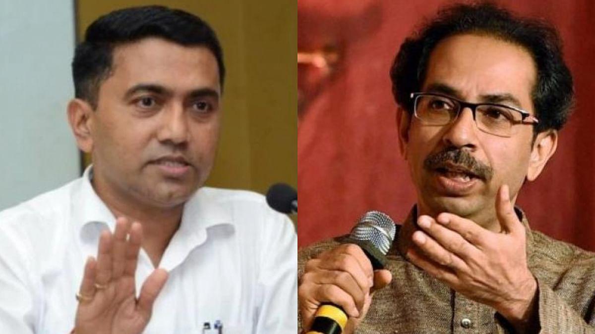 Goa Chief Minister Pramod Sawant and Maharashtra CM Uddhav Thackeray