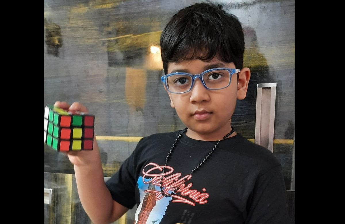 Bhopal: Seven-year-old Manan Sulya bags second position in Rubik's cubes competition organised by Crazyarena